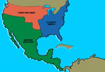 28 de Setembro – 1821 – Parte da Nova Espanha passa a pertencer ao Império Mexicano.