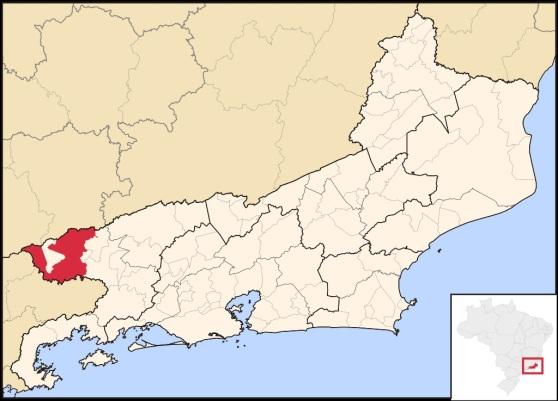 29 de Setembro – Mapa de localização — Resende (RJ) — 216 Anos em 2017.
