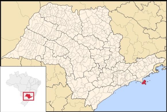 3 de Setembro – Mapa de localização — Ilhabela (SP) — 212 Anos em 2017.