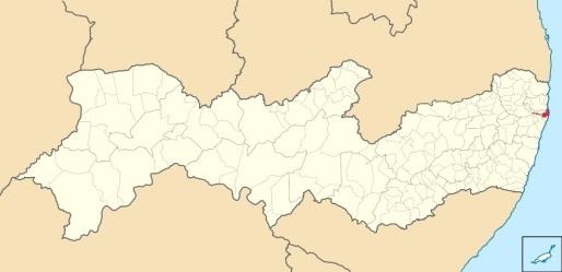 4 de Setembro – Mapa de localização — Paulista (PE) — 82 Anos em 2017.
