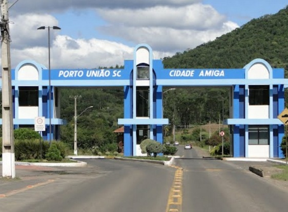 5 de Setembro – Entrada da cidade - Pórtico — Porto União (SC) — 100 Anos em 2017.