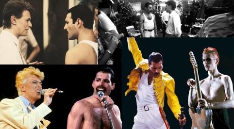 5 de Setembro – Freddie Mercury - 1946 – 71 Anos em 2017 - Acontecimentos do Dia - Foto 18 - Freddie Mercury e David Bowie.