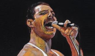 5 de Setembro – Freddie Mercury - 1946 – 71 Anos em 2017 - Acontecimentos do Dia - Foto 21 - pintura, painting.