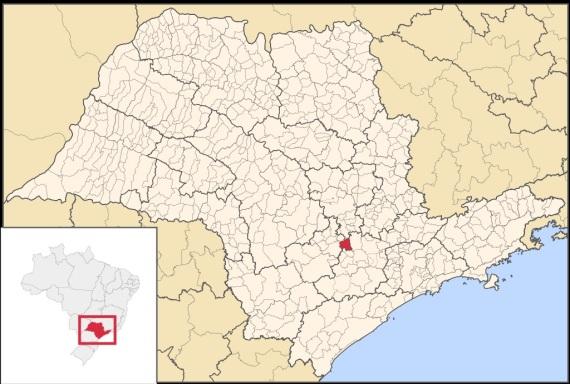 6 de Setembro – Mapa de localização — Boituva (SP) — 80 Anos em 2017.