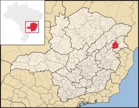 7 de Setembro – Mapa de localização — Teófilo Otoni (MG) — 164 Anos em 2017.