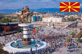 8 de Setembro – 1991 — A República da Macedônia declara sua independência em relação à Iugoslávia. Foto de Escópia, capital da Macedônia.