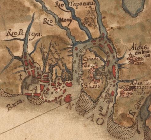 8 de Setembro – Mapa de 1629 por Albernaz I — São Luís (MA) — 405 Anos em 2017.
