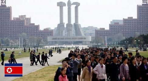 9 de Setembro – 1948 — Independência da Coreia do Norte. Foto de Pyongyang, capital da Coreia do Norte.