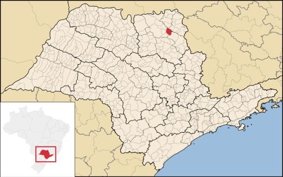 9 de Setembro – Mapa de localização — Nuporanga (SP) — 156 Anos em 2017.