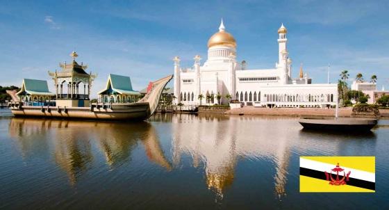 Cidade de Bandar Seri Begawan, capital de Brunei.