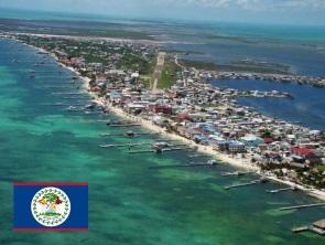 Cidade de Belmopan, capital do Belize.