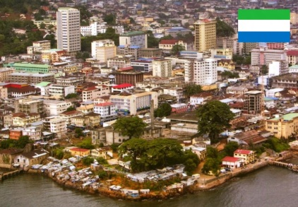 Cidade de Freetown, capital de Serra Leoa.
