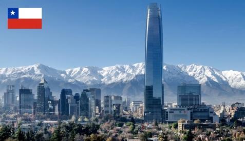Cidade de Santiago, capital da Chile.