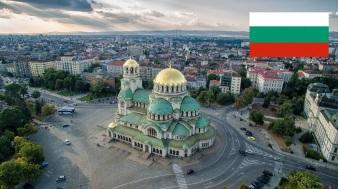 Cidade de Sófia, capital da Bulgária.
