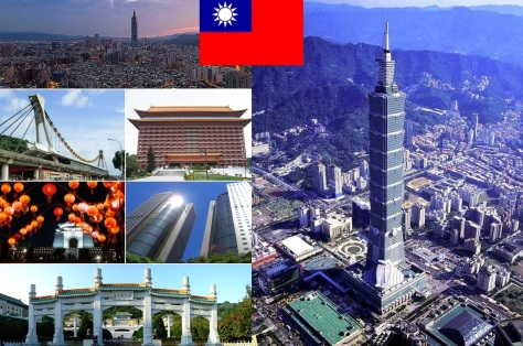 Cidade de Taipé, capital de Taiwan.