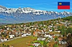 Cidade de Vaduz, capital de Liechtenstein.