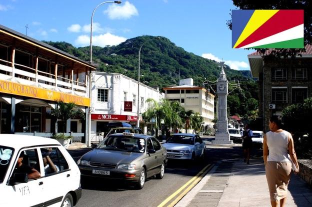 Cidade de Victoria, capital das Ilhas Seychelles.