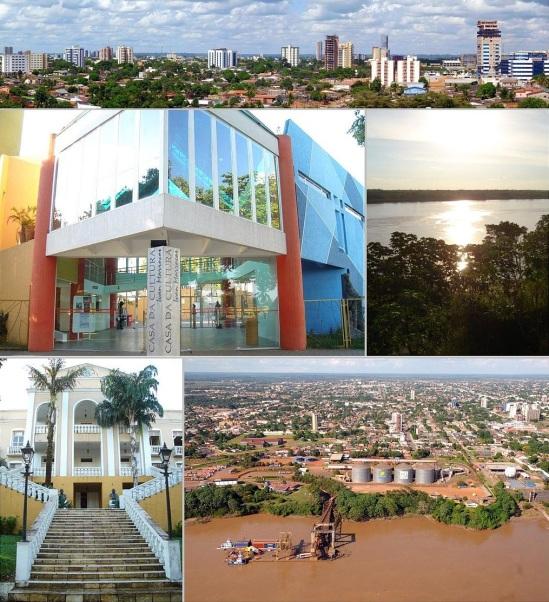 2 de Outubro - Fotomontagem com pontos turísticos da cidade — Porto Velho (RO) — 103 Anos em 2017.