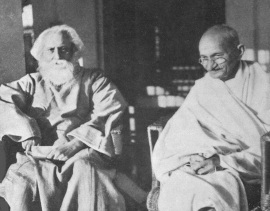 2 de Outubro - Mahatma Gandhi - 1869 – 148 Anos em 2017 - Acontecimentos do Dia - Foto 20 - Rabindranath Tagore e Gandhi em 1940..