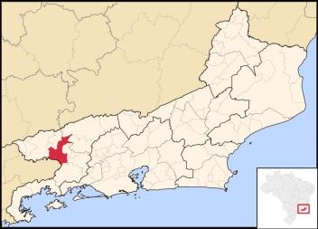 3 de Outubro - Mapa de localização — Barra Mansa (RJ) — 185 Anos em 2017.