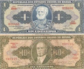 4 de Outubro - 1942 – O Cruzeiro é instituído por Getúlio Vargas como a moeda oficial do Brasil.