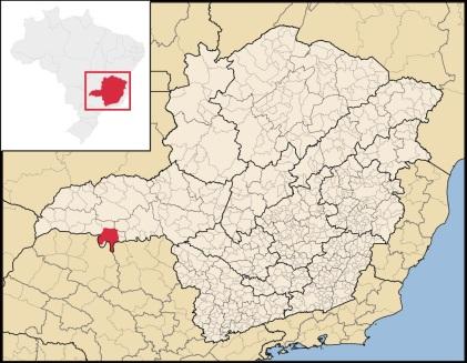 4 de Outubro - Mapa de localização — Frutal (MG) — 130 Anos em 2017.