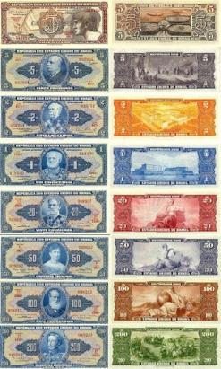 5 de Outubro - 1942 — Substituição do réis pelo cruzeiro como padrão monetário do Brasil.