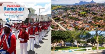 5 de Outubro - Fotomontagem com pontos turísticos da cidade — Itamaraju (BA) — 56 Anos em 2017.