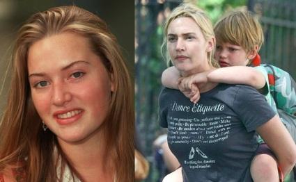 5 de Outubro - Kate Winslet - 1975 – 42 Anos em 2017 - Acontecimentos do Dia - Foto 19 - Kate Winslet jovem, e com seu filho.