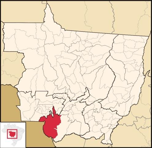 6 de Outubro - Mapa de localização — Cáceres (MT) — 249 Anos em 2017.