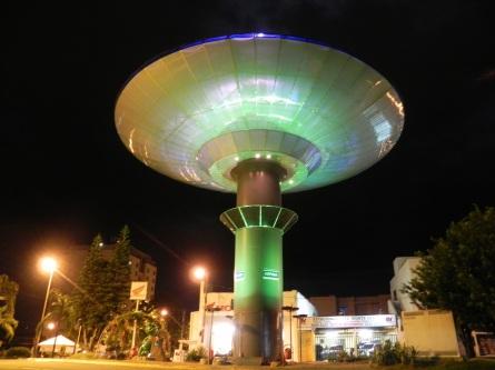 7 de Outubro - Nave espacial iluminada — Varginha (MG) — 135 Anos em 2017.