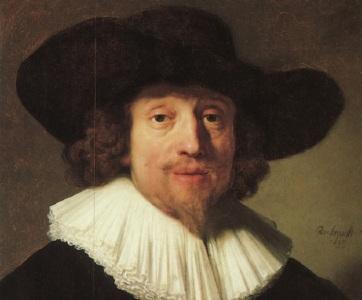 8 de Outubro - 1585 – Heinrich Schütz, compositor alemão (m. 1672). Quadro de 1640 - Rembrandt.