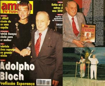 8 de Outubro - Adolpho Bloch - 1908 – 109 Anos em 2017 - Acontecimentos do Dia - Foto 13 - Adolpho Bloch com Xuxa na revista, e com Anna Bentes Bloch no Carnaval.