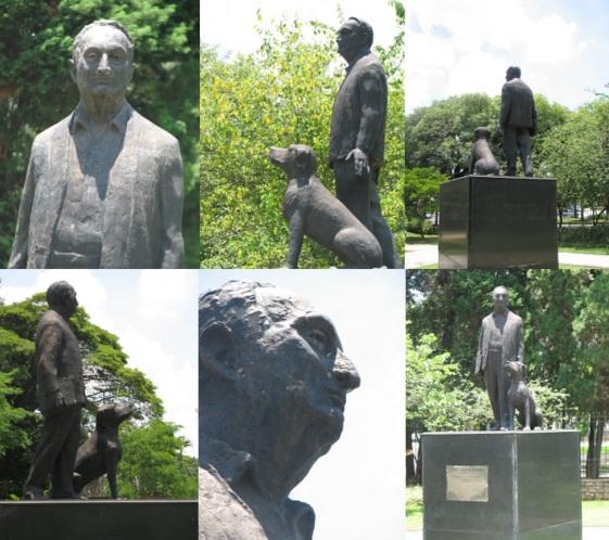 8 de Outubro - Adolpho Bloch - 1908 – 109 Anos em 2017 - Acontecimentos do Dia - Foto 6 - Escultura bronze de Adolpho Bloch, na Praça Adolpho Bloch - Avenida Brasil - SP.