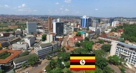 Cidade de Kampala, capital de Uganda.