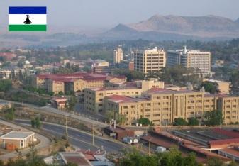 Cidade de Maseru, capital da Lesoto.
