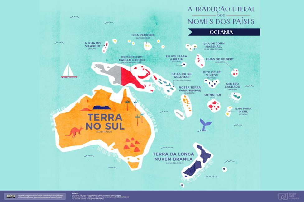 Mapa da Oceania