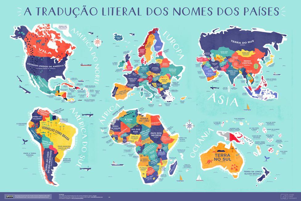 Origens dos nomes dos países